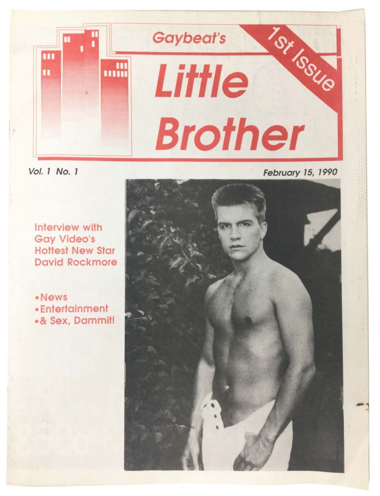 GAYBEAT'S LITTLE BROTHER. 1st Issue.; Vol. 1, No. 1. February 15, 1990. Gay Literature.