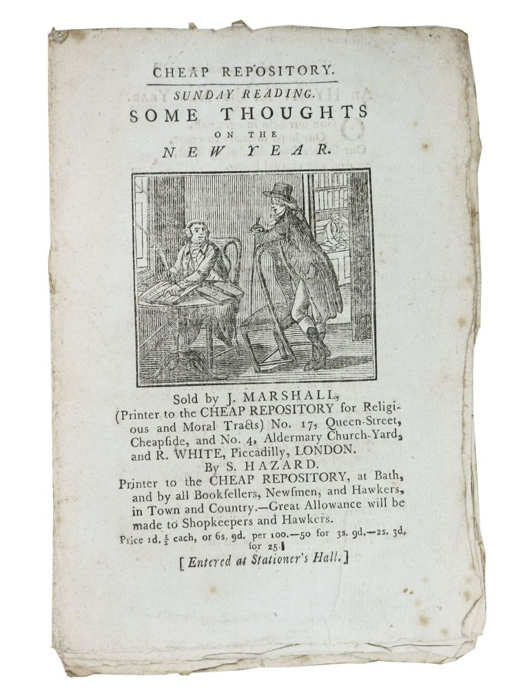 SOME THOUGHTS On The NEW YEAR.; Cheap Repository. Sunday Reading. Price 1d 1 2. Hannah 1745 - 1833 More.