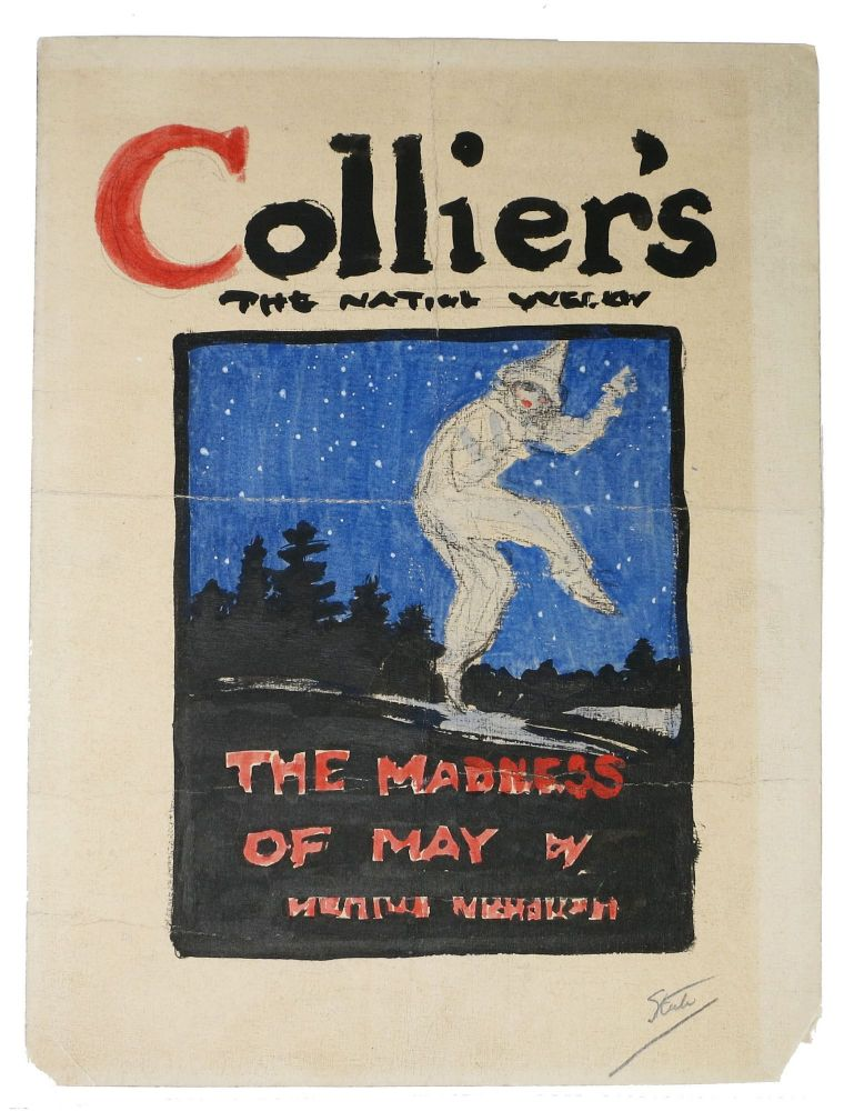 ORIGINAL COVER COLOR ARTWORK. Collier's The National Weekly. The Madness of May. Frederic Dorr . Nicholson Steele, Meredith, 1873 - 1944, 1866 - 1947.