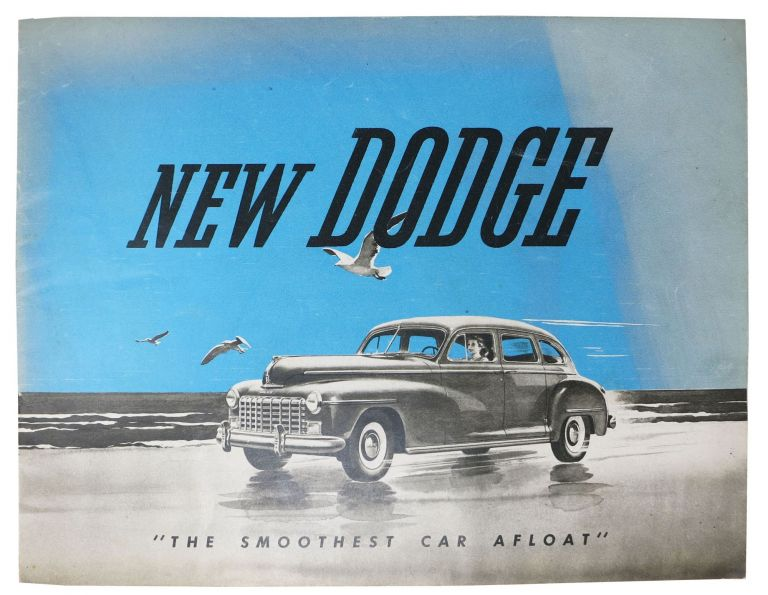 "NEW DODGE ""The Smoothest Car Afloat"" Automotive Promotional Brochure."
