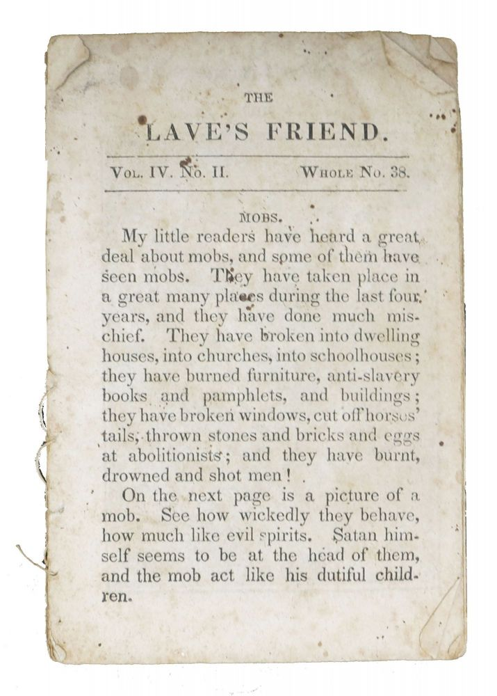 The [S]LAVES FRIEND.; Vol. IV. No. II. - Whole No. 33. Children's Chapbook.