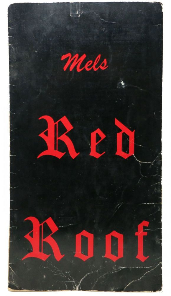 MEL'S RED ROOF. Restaurant Menu.
