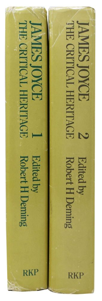 JAMES JOYCE - The CRITICAL HERITAGE. Two Volumes.; Volume One: 1907 - 1927. Volume Two: 1928 - 1941. Robert H. Deming.