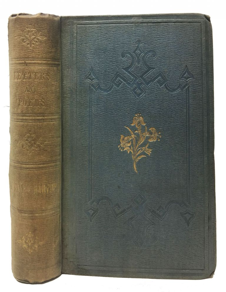 SELECTIONS From The POEMS And LETTERS Of BERNARD BARTON.; Edited by His Daughter. Bernard . Barton Barton, Lucy -, Edward - Contributor Fitzgerald, 1784 - 1849, 1809 - 1883.