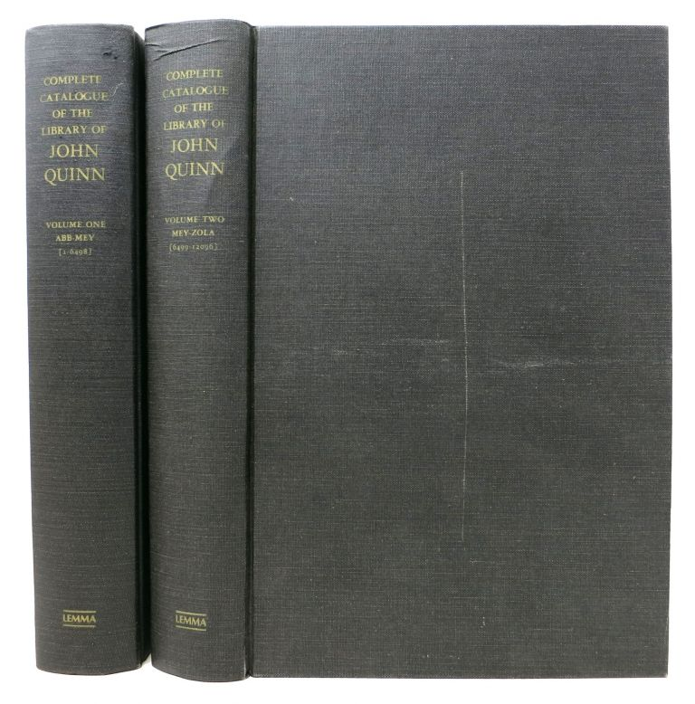 COMPLETE CATALOGUE Of The LIBRARY Of JOHN QUINN.; Sold By Auction in Five Parts. Auction Catalog.