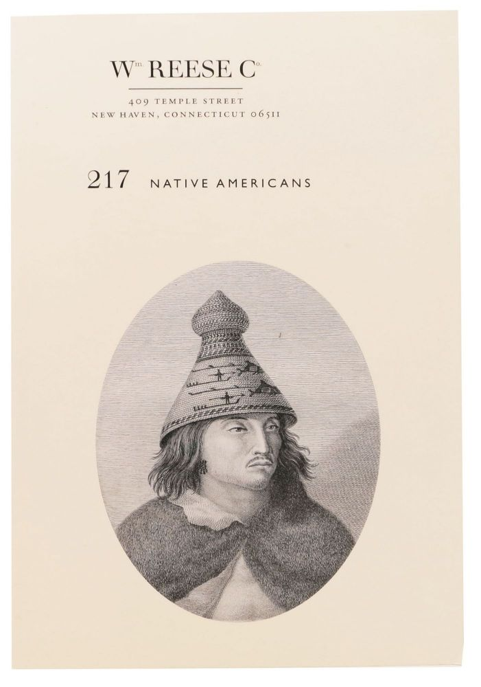 217 NATIVE AMERICANS; Wm. Reese Co. Bookseller Catalog.