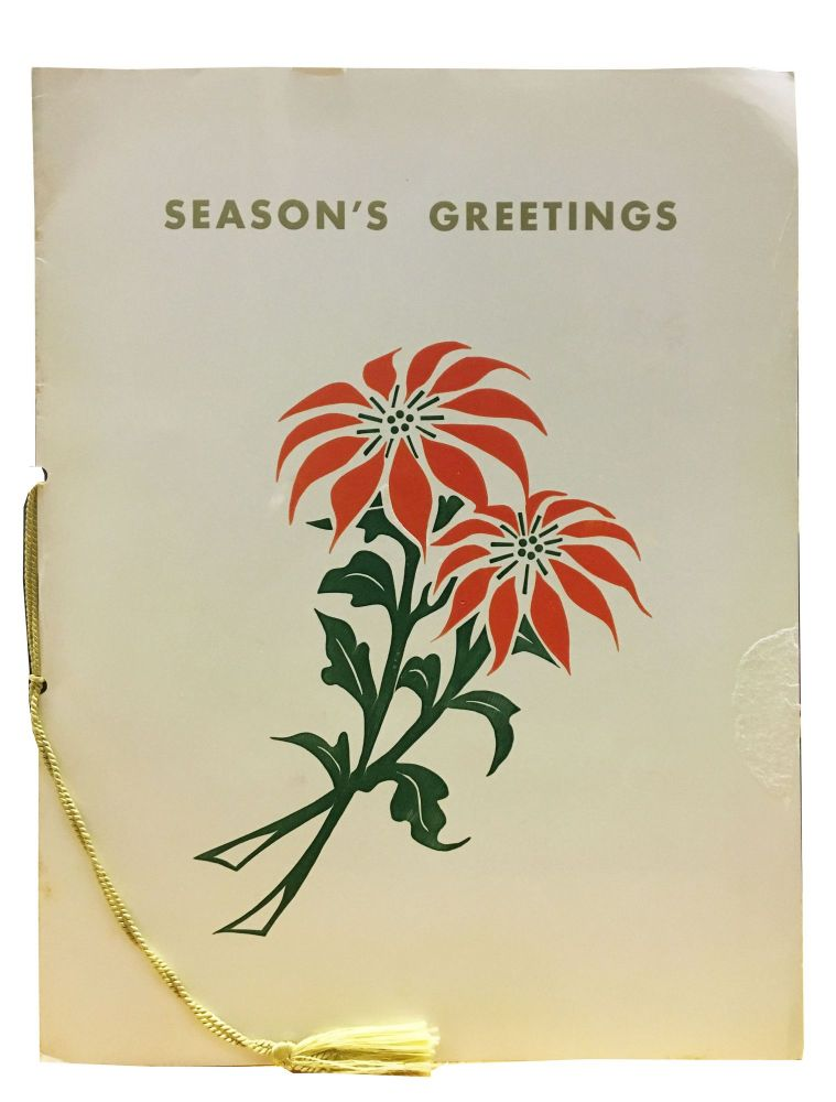 SEASONS GREETINGS.; In Behalf of American President Lines, Captain Joseph D. Cox, the Officers and Crew of the S.S. President Wilson Extend to each Passenger sincere wishes for A Very Merry Christmas. Ocean Linear Menu.