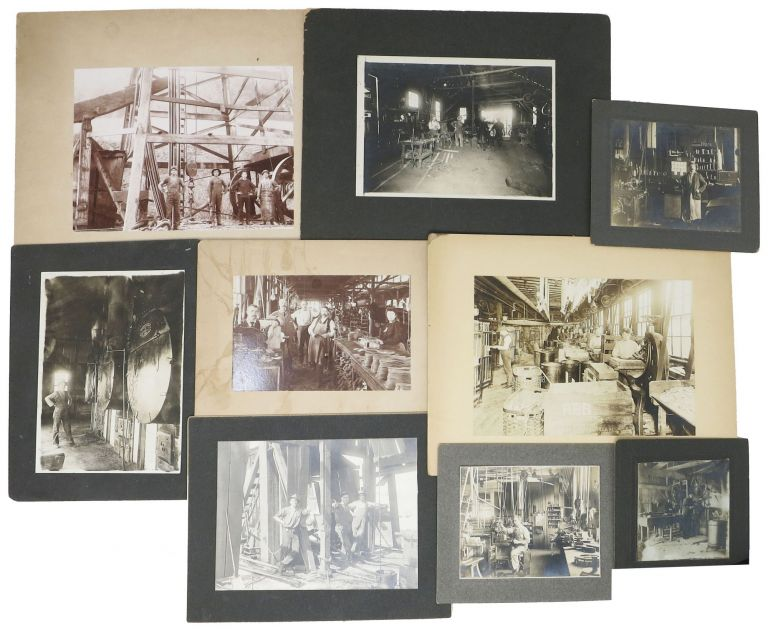 CACHE Of NINE B/W PHOTOGRAPHS DOCUMENTING 19th C / EARLY 20th C TRADES & OCCUPATIONS. Industrial Revolution.