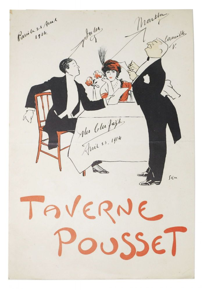 TAVERNE POUSSET. French Menu.