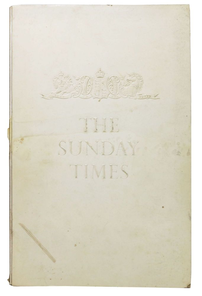 The SUNDAY TIMES. A Pictorial Biography of One of the World's Great Newspapers. Roy Herbert Thomson, GBE, 1st Baron Thomson of Fleet, 1894 – 1976.