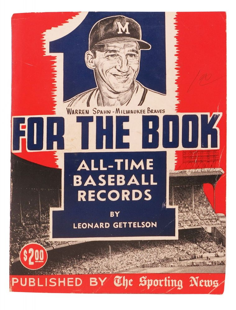 ONE For The BOOK For 1962. Complete All - Time Major League Records. Leonard - Gettelson.