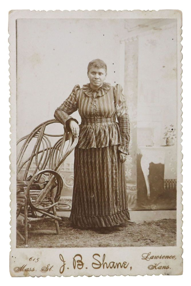 19th C. CABINET CARD ALBUMEN PHOTOGRAPH Of An AFRICAN - AMERICAN WOMAN. Mary - Subject. Shane Brent, J. B. - Photographer, June Belle?