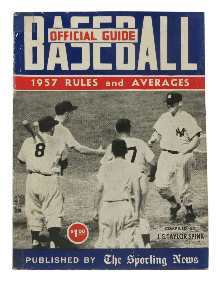 OFFICIAL BASEBALL GUIDE For 1957. J. G. Taylor - Compiler Spink.