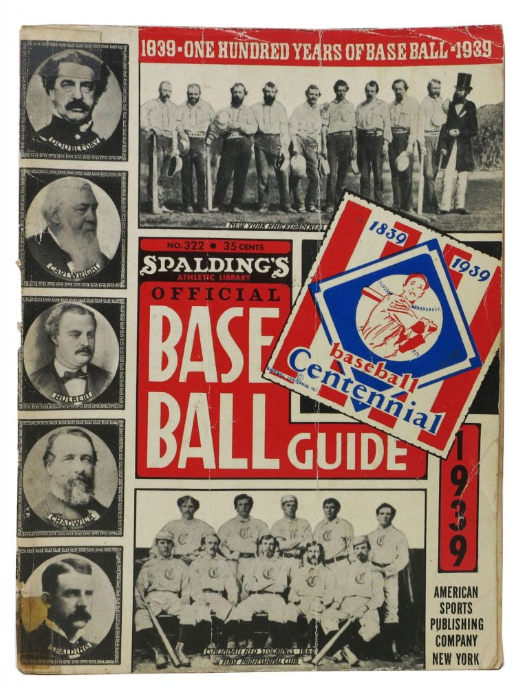 SPALDING'S OFFICIAL BASE BALL GUIDE. Sixty-third Year. 1939.; Spalding's Athletic Library. No. 322. Price 35 cents. Baseball Literature, John B. - Foster.