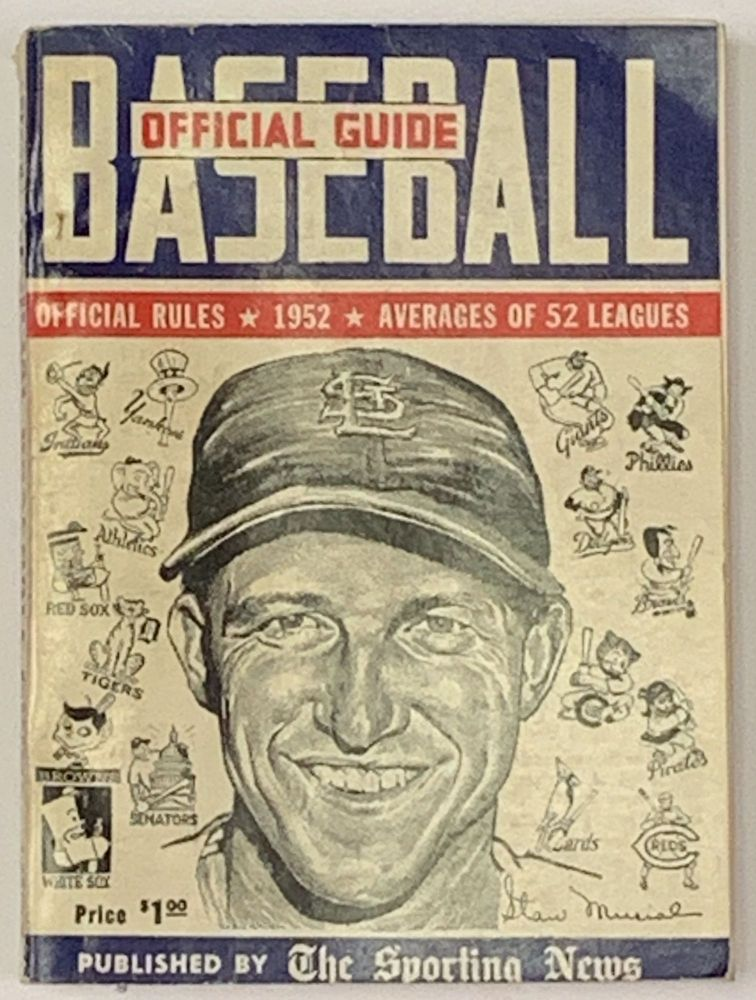 BASEBALL GUIDE And RECORD BOOK 1952. J. G. Taylor - Compiler Spink.