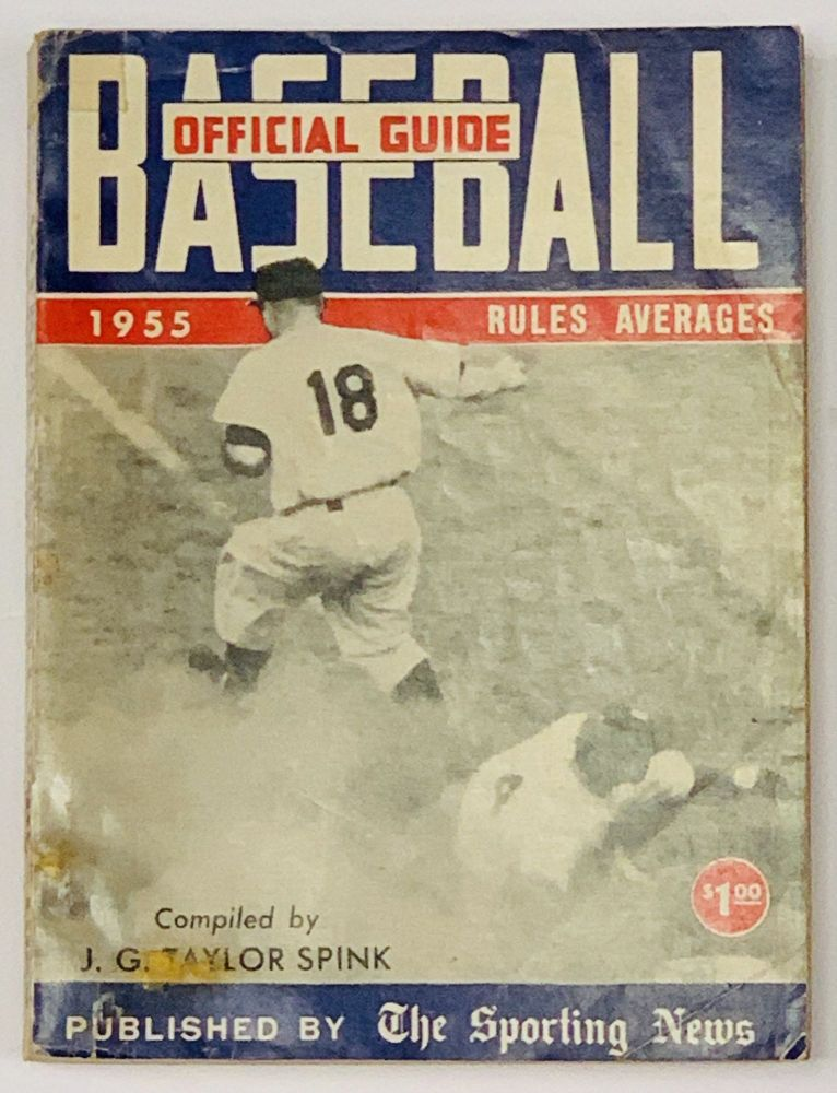 BASEBALL GUIDE And RECORD BOOK 1955. J. G. Taylor - Compiler Spink.