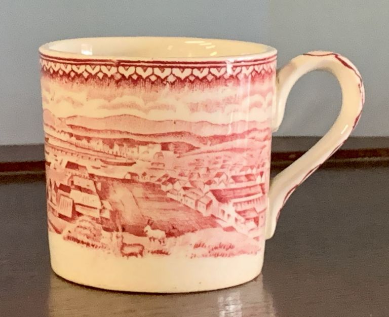 SOFT PASTE CHILDREN'S MUG, With 1850s San Francisco Scene. San Francisco Artifact, William B. - Inspiration McMurtrie.