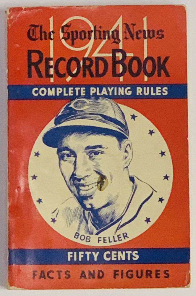 The SPORTING NEWS RECORD BOOK For 1941. Baseball Literature, Ernest J. Flanagan.