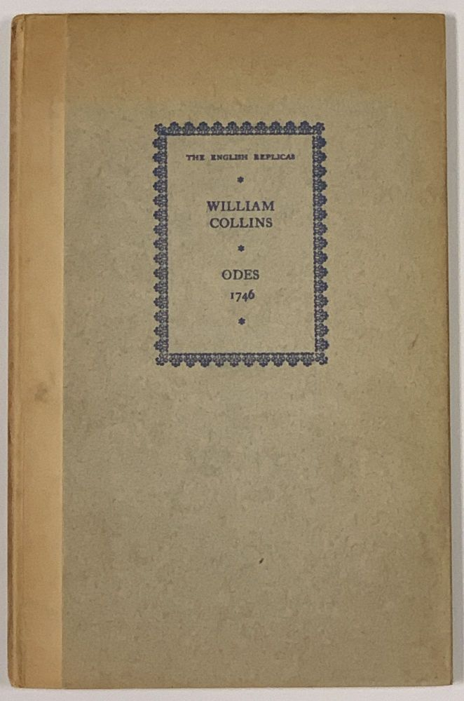ODES On SEVERAL DESCRIPTIVE And ALLEGORIC SUBJECTS. William Collins, 1721 - 1759.