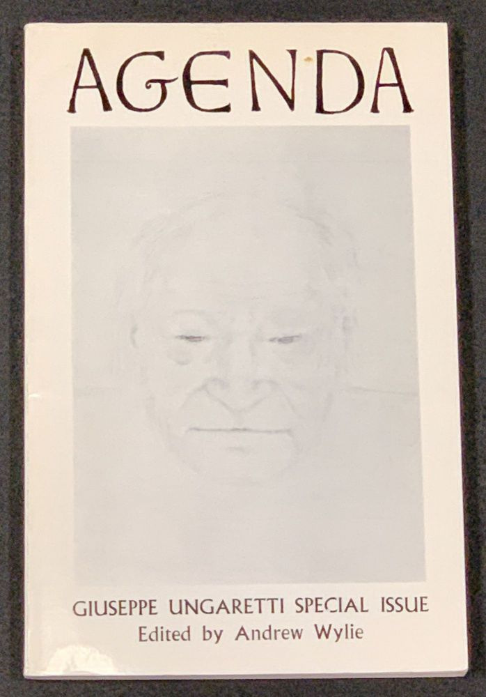 AGENDA. Vol. 8 No. 2. Spring 1970; Giuseppe Ungaretti Special Issue. William - Cookson, Andrew - Contributor Wylie.