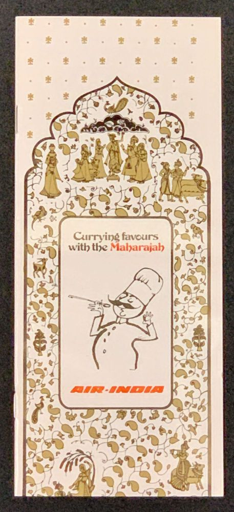CURRYING FAVOURS With The MAHARAJAH. Air - India. Airline Cook Book.