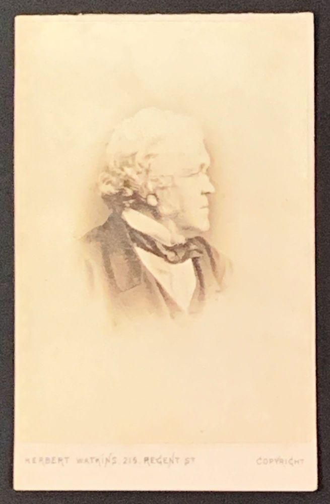 CARTE - De - VISITE [CDV] ALBUMEN PHOTOGRAPH. William Makepeace Thackeray, 1811 - 1863.