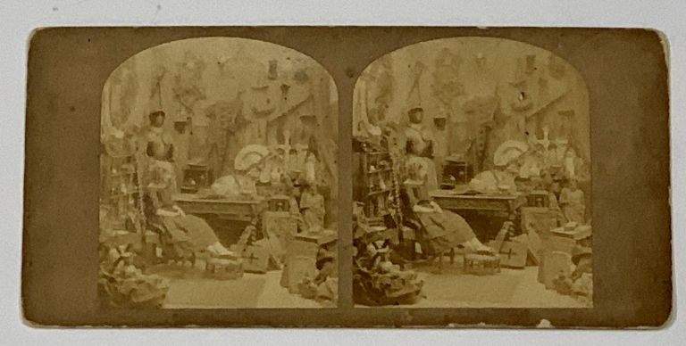 """STEREOVIEW. LITTLE NELL. Vide - """"Old Curiosity Shop""""; Albumen Photograph. Charles Dickens, 1812 - 1870."""