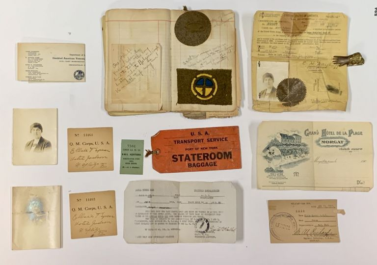 WWI NURSE'S POCKET DIARY. September 9, 1918 - July 20, 1919.; With Associated Ephemera & Momentos. Elsie T. Spear.