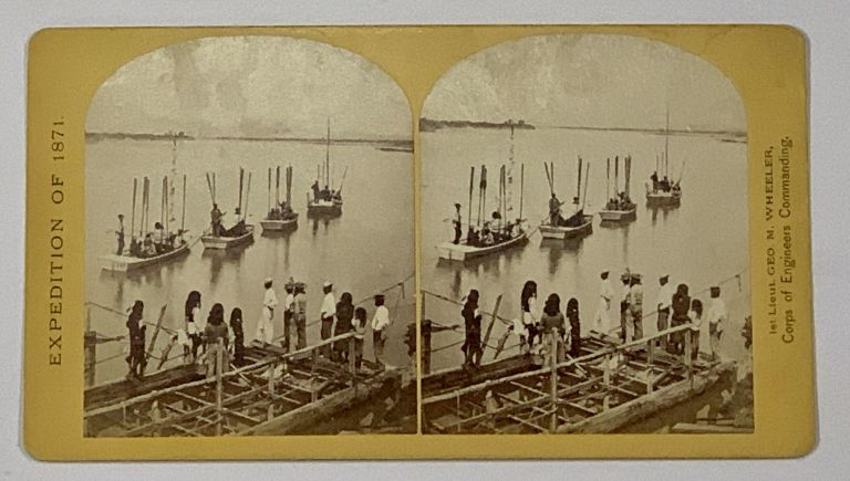 EXPEDITION Of 1871. Explorations and Surveys West of the 100th Meridan. No. 1. T. H. O'Sullivan, Photo.; 1st Lieut. Geo. M. Wheeler, Corps of Engineers Commanding. War Department, Corps of Engineers, U. S. A. Stereoview, First Lieut. Ge . . O'Sullivan Wheeler, . H. - Photographer, rge, ontague. 1842 - 1905, imothy, c. 1840 - 1882.