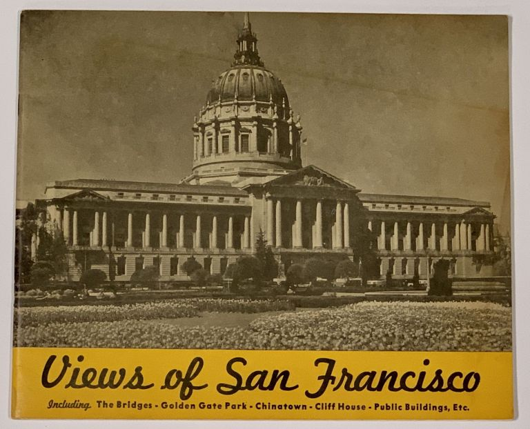 SOUVENIR VIEW BOOK Of SAN FRANCISCO.; Containing a Selection of Reproductions of Interesting Subjects from Photographs Taken by the Gabriel Moulin Studios, Famous California Photographers and Including a Bird's-Eye View of the Entire Bay Area from an Original Drawing by E. A. Burbank. San Francisco Local History.