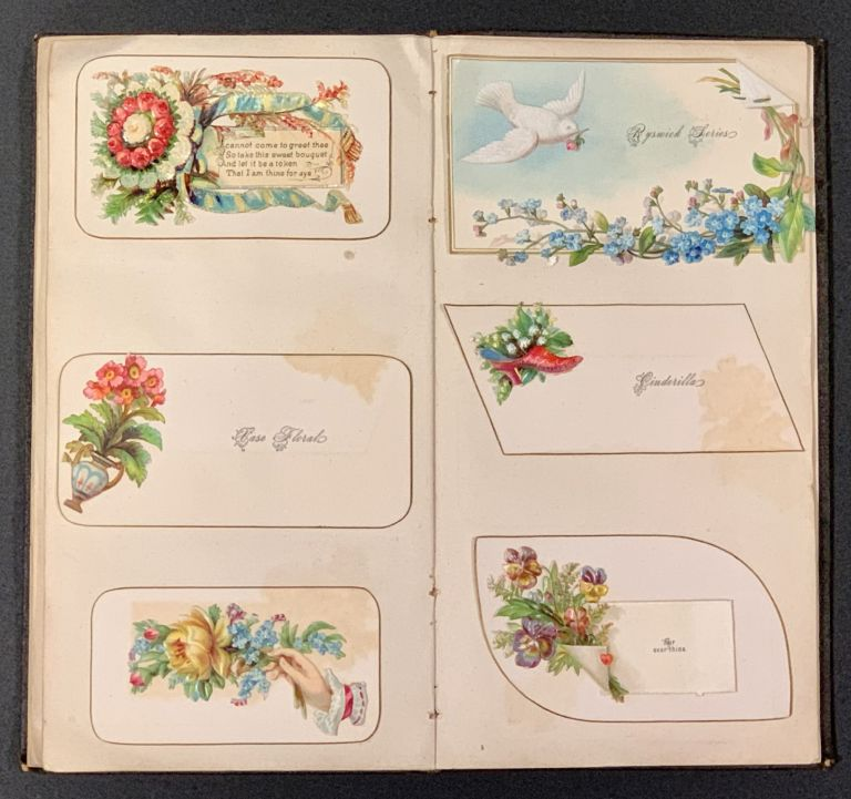 SNOW & CO's [CALLING / VISITING CARD] SAMPLE BOOK. Meriden, Conn. [Cover title]. Trade Catalogue, Miss Jennie M. - Former owner Long.
