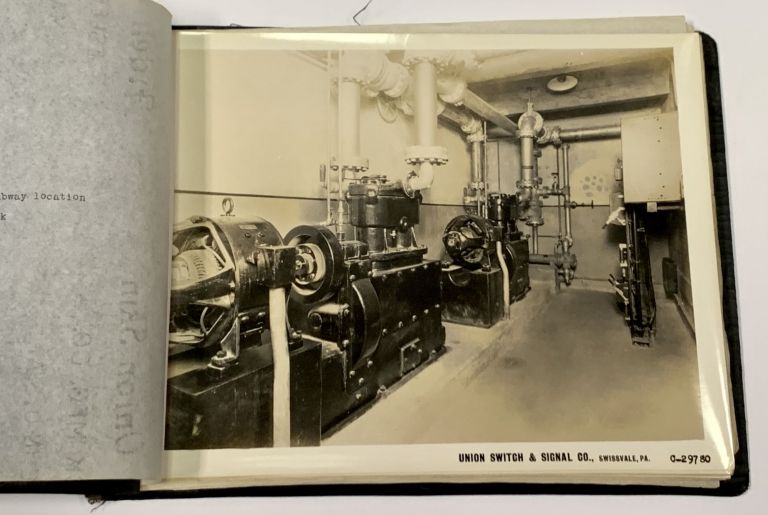 PHOTO ALBUM DEPICTING SWITCHES And SIGNALS INSTALLED In NEW YORK'S 8th AVENUE SUBWAY. New York City Local History.