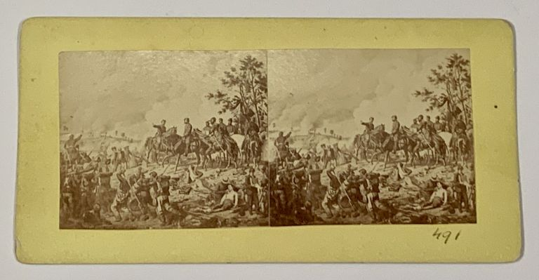 STEREOVEIW. 491. Battle of Gettysburg - July 2d, 1863.; Sights and Scenes from the Battlefied of Gettysburg, July 1st, 2d and 3d, 1863. William Henry - Photographer Tipton, 1850 - 1929.