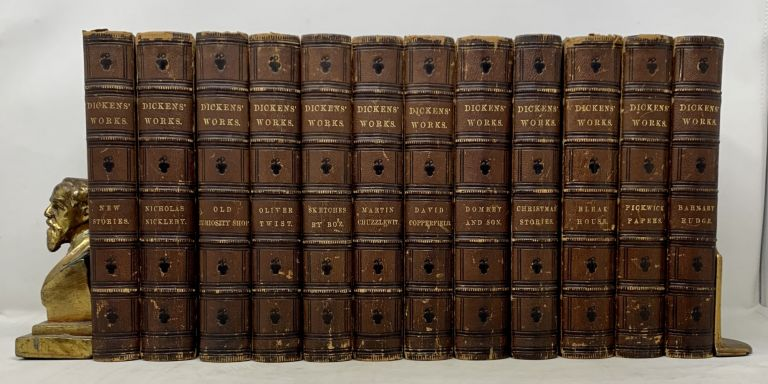 UNIFORM EDITION Of CHARLES DICKENS' WORKS. 12 Volumes, Complete. Charles Dickens, 1812 - 1870.