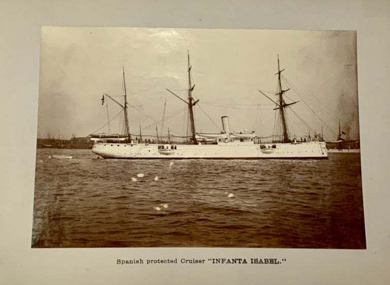 PHOTOGRAPH ALBUM COMPRISING 14 ALBUMEN IMAGES Of TURN-Of-The-CENTURY VESSELS, Including Battle-ships. Maritime History.