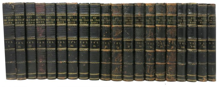 ALL The YEAR ROUND. Volumes I - 20.; Containing the first appearance of Tale of Two Cities and Great Expectations. Charles - Dickens, Wilkie Collins, Gaskell Mrs., Anthony Trollope, Charles Lever, Charles - Contributors Reade, 1812 - 1870.