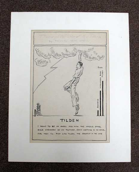 TILDEN. Original Pencil Sketch. From Steele's 'Thoughts About the Stars' Series. Frederic Dorr Steele, 1873 - 1944.
