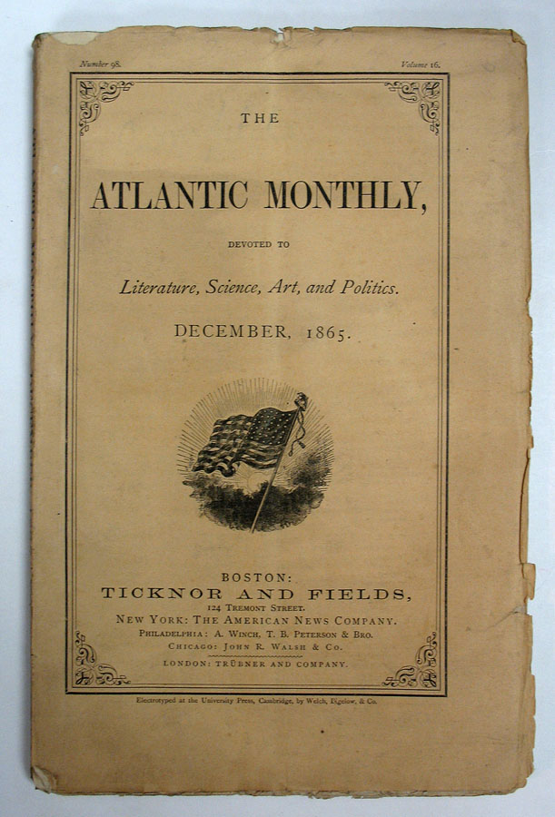 'Adelaide Anne Procter' in The ATLANTIC MONTHLY. Charles. 1812 - 1870 Dickens.