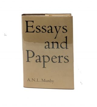 ESSAYS And PAPERS.; Edited, with an Introduction, by Nicolas Barker. A. N. L. Munby