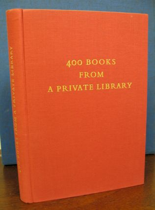 400 BOOKS From A PRIVATE LIBRARY. M. N. Biegelman, P. M