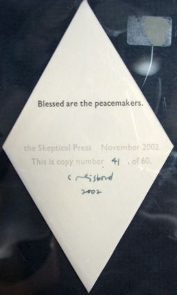 BLESSED Are The PEACEMAKERS. Artist Book, Coriander Reisbord