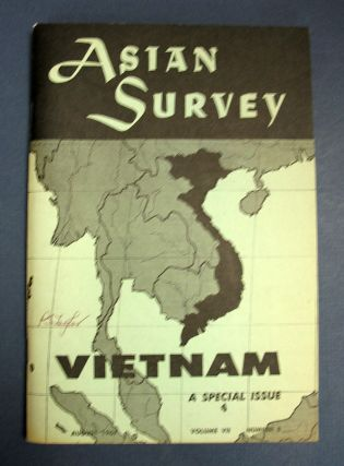 VIETNAM: A SYMPOSIUM. Asian Survey Volume VII, Number 8. Vietnam.