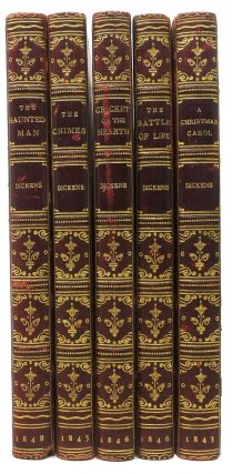 The CHRISTMAS BOOKS. A Set of all 5 titles: A Christmas Carol; The Chimes; The Cricket on the...
