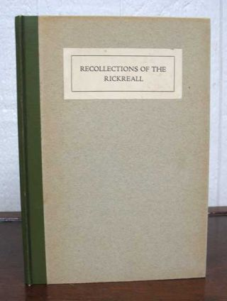 RECOLLECTIONS Of The RICKREALL. Oregon History, Harriet Nesmith McArthur