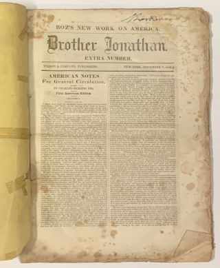 AMERICAN NOTES For GENERAL CIRCULATION. Brother Jonathan Edition. Extra Number. November 7, 1842.