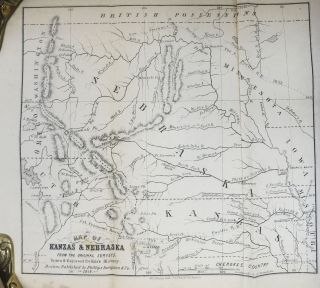 KANZAS (Kansas) And NEBRASKA: The History, Geographical and Physical Characteristics, and Political Position of Those Territories; An Account of the Emigrant Aid Companies, and Directions to Emigrants. With an Original Map from the Latest Authorities.