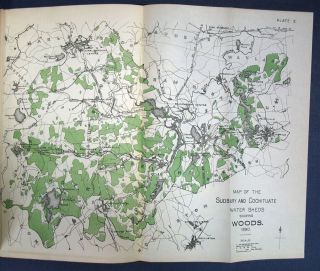 MAPS Of The SANITARY DISTRICTS Of The SUDBURY And COCHITUATE WATHERSHEDS Of The BOSTON WATER WORKS. 1891.