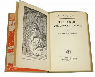 The SIGN Of The CROOKED ARROW. The Hardy Boys Mystery Series #28.