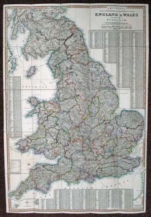 CRUCHLEY'S IMPROVED GEOGRAPHIC COMPANION THROUGHOUT ENGLAND & WALES Including Part of SCOTLAND.
