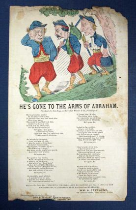 HE'S GONE To The ARMS Of ABRAHAM. Civil War Song / Letter Sheet